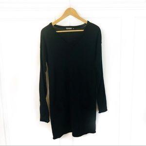 nicole miller • wool blend sweater tunic dress
